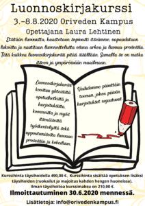 Luonnoskirjakurssi - Oriveden Kampus