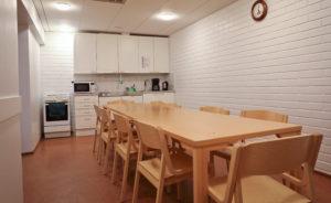 Oriveden Kampus, majoitussiiven keittiö