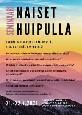 Oriveden Kampus Naiset huipulla seminaari jännät naiset huippunaiset naisministerit