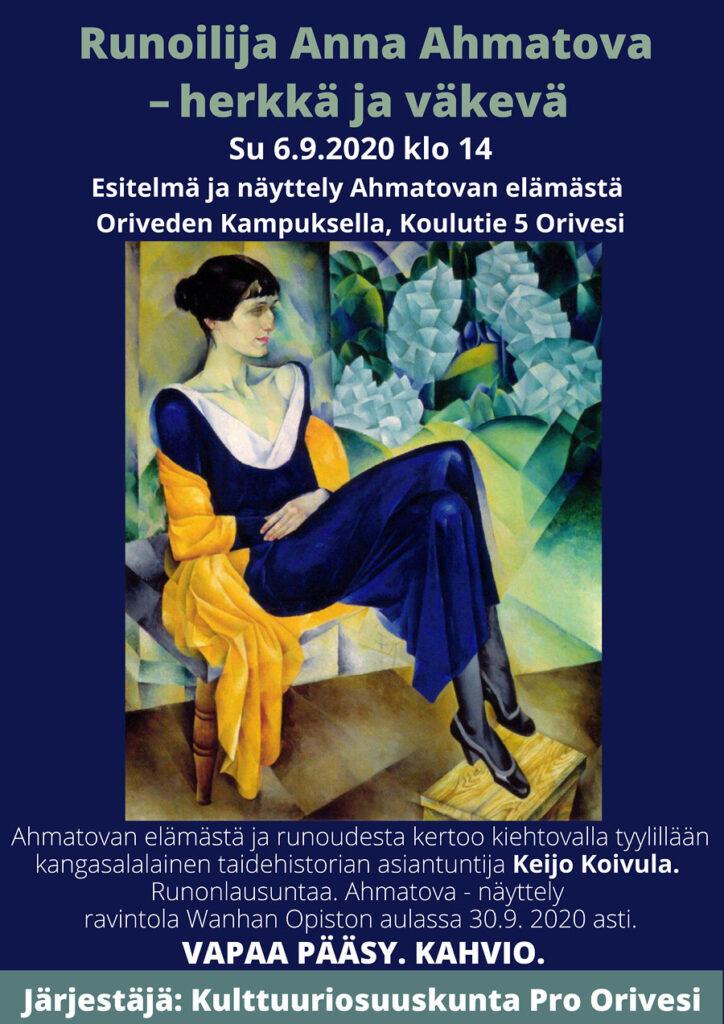 Runoilija Anna Ahmatova, Keijo Koivulan esitelmä Oriveden Kampuksella