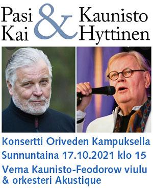 Oriveden Kampus Kai Hyttinen & Pasi Kaunisto konsertti